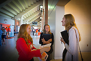 CASNR Career Fair in the concourse level of Gahlager-Iba Arena. Employers set up information booths promoting jobs and internships that are available. Students from all areas of Agriculture were able to meet prospective employers.