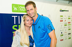 Winner Florian Mayer of Germany with his girlfriend after the Final of Tennis Tournament ATP Challenger Tilia Slovenia Open 2016, on August 13, 2016 in Sports centre, Portoroz/Portorose, Slovenia. Photo by Vid Ponikvar / Sportida