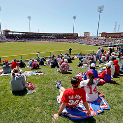 Mar 6, 2013; Clearwater, FL, USA; A general view from the outfield grass before a spring training game between the Philadelphia Phillies and the Washington Nationals at Bright House Field. Mandatory Credit: Derick E. Hingle-USA TODAY Sports