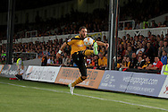 Robbie Willmott of Newport county in action. Skybet football league two match, Newport county v Northampton Town at Rodney Parade in Newport, South Wales on Saturday13th Sept 2014<br /> pic by Mark Hawkins, Andrew Orchard sports photography.