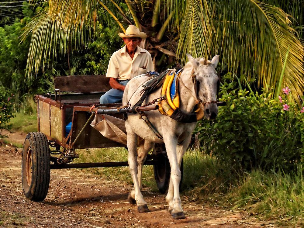 Horse and cart in Cabaiguan, Sancti Spiritus, Cuba.