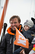 "British yachtsman Alex Thomson finishes 3rd in the solo non stop around the world yacht race ""The Vendee Globe"". Les  Sables d Olonne. France...Pictures free for editorial use only please credit: Lloyd Images/DPPI"