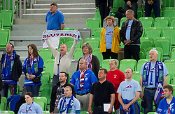 Fans of Slovenia during handball match between Women National Teams of Slovenia and Czech Republic of 4th Round of EURO 2012 Qualifications, on March 25, 2012, in Arena Stozice, Ljubljana, Slovenia. (Photo by Vid Ponikvar / Sportida.com)