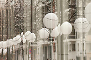 Berlin, Germany (9 November 2014). 9 November 2014 marks the 25th anniversary of the fall of the Berlin Wall, and on the preceding day some 8,000 large white illuminated balloons were placed along the course of the former Wall, to be released in the evening on 9 November. © Rudolf Abraham.