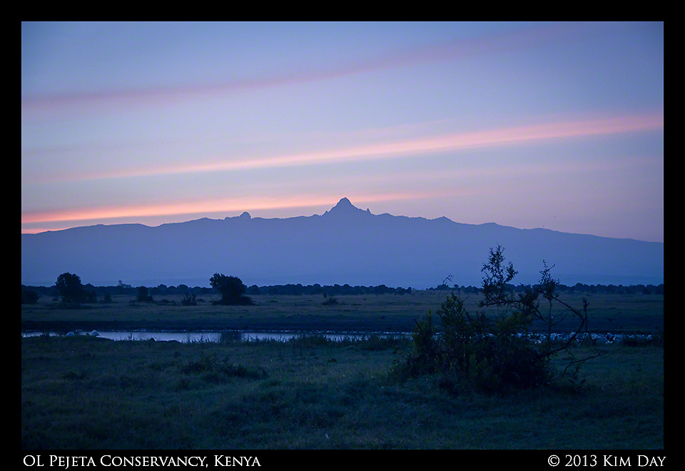 Dawn On Mt. Kenya<br /> Sweetwaters - OL Pejeta - Kenya<br /> September 2013