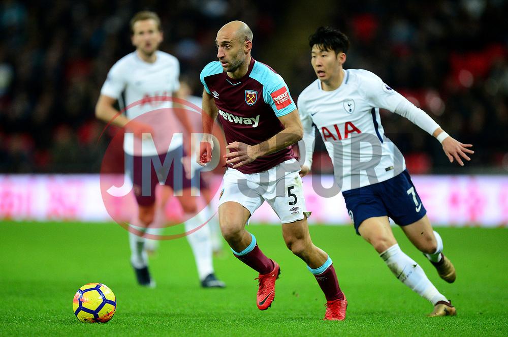 Pablo Zabaleta of West Ham United - Mandatory by-line: Alex James/JMP - 04/01/2018 - FOOTBALL - Wembley Stadium - London, England - Tottenham Hotspur v West Ham United - Premier League