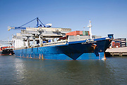 Container ship 'Star Isfjord' and cranes, Port of Rotterdam, Netherlands