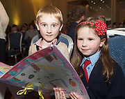 REPRO FREE: Evan Duke and Amy Lavelle, Ballinderry NS  at the Galway Education Centre's SCriobh Leabhair at the Radisson Blu hotel where national school pupil wrote and Illustrated their own books. Photo:Andrew Downes, xposure.