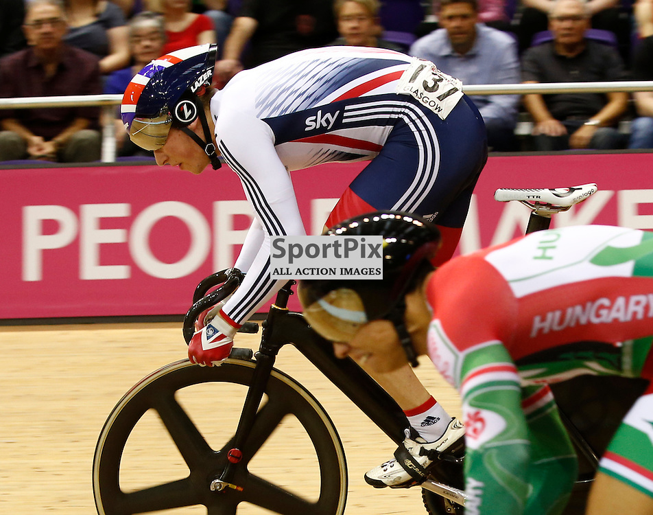 UCI Track Cycling World Cup Glasgow 4th - 6th November 2016.Joe Trueman in the Men's Keirin First Round Repechage....(c) STEPHEN LAWSON | SportPix.org.uk