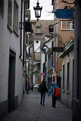 SWITZERLAND ZURICH 3MAR12 - Narrow alleyway in Zurich city centre, Switzerland. ....jre/Photo by Jiri Rezac....© Jiri Rezac 2012