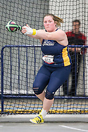 Windsor, Ontario ---2015-03-12--- Brett Jutzi of Windsor competes in the weight throw at the 2015 CIS Track and Field Championships in Windsor, Ontario, March 12, 2015.<br /> GEOFF ROBINS/ Mundo Sport Images