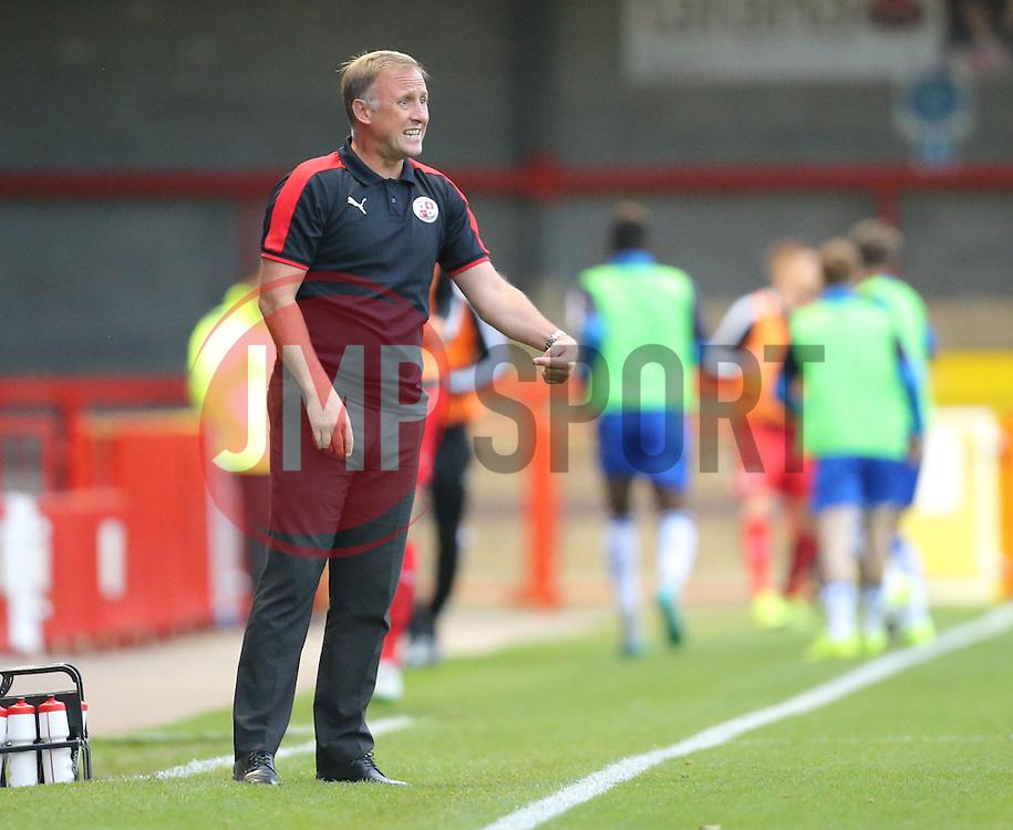 Crawley Manager, Mark Yates - Mandatory by-line: Paul Terry/JMP - 07966386802 - 27/07/2015 - SPORT - FOOTBALL - Crawley,England - Broadfield Stadium - Crawley Town v Reading - Pre-Season Friendly