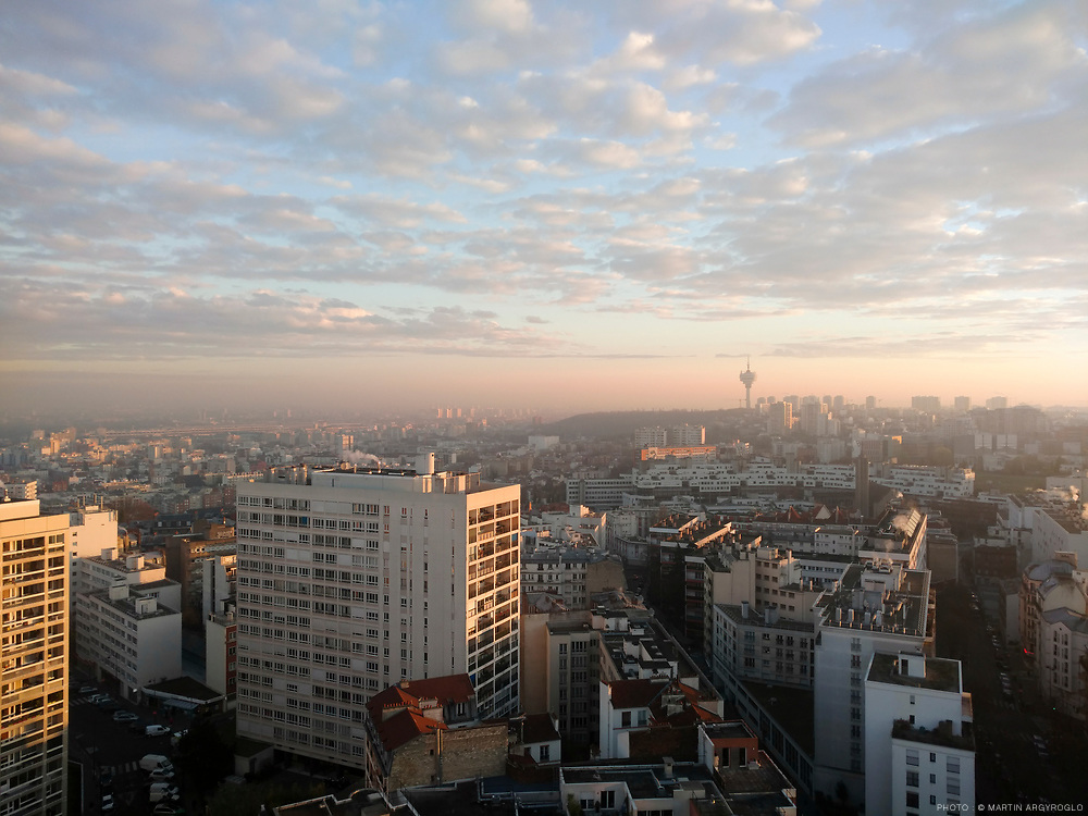 Vue sur l'est parisien et la proche banlieue