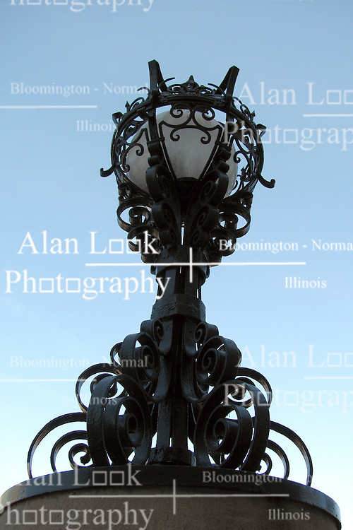 20 October 2010: a heavily ornate lamp at Union Station, St. Louis Missouri
