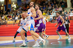 16.03.2019, SPH Walfersam, Kapfenberg, AUT, Admiral BBL, Kapfenberg Bulls vs Vienna D.C. Timberwolves, 29. Runde, im Bild v.l.: Marino Sarlija (Kapfenberg Bulls), Nemanja Nikolic (Vienna D.C. Timberwolves) // during the Admiral Basketball league, 29th round match between Kapfenberg Bulls and Vienna D.C. Timberwolves at the SPH Walfersam in Kapfenberg, Austria on 2019/03/16. EXPA Pictures © 2019, PhotoCredit: EXPA/ Dominik Angerer