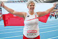 Anita Wlodarczyk competes in women's hammer throw final during the 14th IAAF World Athletics Championships at the Luzhniki stadium in Moscow on August 16, 2013.<br /> <br /> Russian Federation, Moscow, August 16, 2013<br /> <br /> Picture also available in RAW (NEF) or TIFF format on special request.<br /> <br /> For editorial use only. Any commercial or promotional use requires permission.<br /> <br /> Mandatory credit:<br /> Photo by © Adam Nurkiewicz / Mediasport