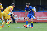 AFC Wimbledon midfielder Tom Beere (16) during the Pre-Season Friendly match between AFC Wimbledon and Crystal Palace at the Cherry Red Records Stadium, Kingston, England on 27 July 2016. Photo by Stuart Butcher.