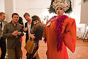 SIMON MILLS; STEVE STRANGE; MISS JULIA; DANIEL LISMORE, 30 Years Of i-D - book launch. Q Book 5-8 Lower John Street, London . 4 November 2010. -DO NOT ARCHIVE-© Copyright Photograph by Dafydd Jones. 248 Clapham Rd. London SW9 0PZ. Tel 0207 820 0771. www.dafjones.com.