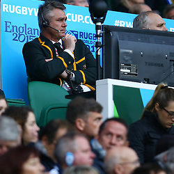 LONDON, ENGLAND - OCTOBER 24: Heyneke Meyer (Head Coach) of South Africa during the Rugby World Cup Semi Final match between South Africa and New Zealand at Twickenham Stadium on October 24, 2015 in London, England. (Photo by Steve Haag/Gallo Images)