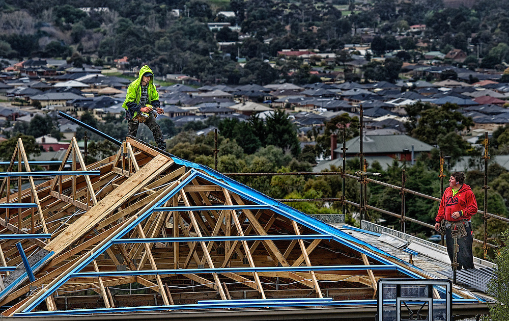 Modern Melbourne, Roofing contractors in Bacchus Marsh. Pic By Craig Sillitoe CSZ / The Sunday Age.11/08/2012 melbourne photographers, commercial photographers, industrial photographers, corporate photographer, architectural photographers, This photograph can be used for non commercial uses with attribution. Credit: Craig Sillitoe Photography / http://www.csillitoe.com<br />