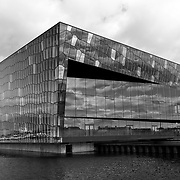 Harpa Concert Hall and Conference centre building placed at the  Reykjavik harvour, Iceland.