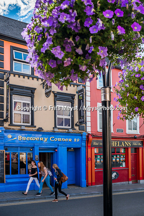 Kilkenny, Southern Ireland, August 2016.  Kilkenny is a medieval town in southeast Ireland. Its grand Kilkenny Castle was built in 1195 by Norman occupiers. The town has deep religious roots and many well-preserved churches and monasteries, including imposing St. Canice's Cathedral and the Black Abbey Dominican priory, both from the 13th century. A coastal road trip from Kilkenny to Cork via Wexford and Waterford.  Photo by Frits Meyst / MeystPhoto.com