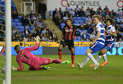 Bournemouth's Callum Wilson scores. - Photo mandatory by-line: Alex James/JMP - Mobile: 07966 386802 - 14/04/2015 - SPORT - Football - Reading - Madejski Stadium - Reading v AFC Bournemouth - Sky Bet Championship