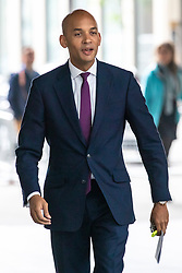 © Licensed to London News Pictures. 19/05/2019. London, UK. Change UK Spokesman Chuka Umunna arrives at Broadcasting House to appear in The Andrew Marr Show. Photo credit: Rob Pinney/LNP