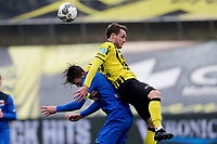 (L-R) *Wout Weghorst* of AZ Alkmaar, *Nils Roseler* of VVV Venlo