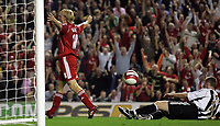 Photo: Paul Thomas.<br /> Liverpool v Newcastle United. The Barclays Premiership. 20/09/2006.<br /> <br /> Dirk Kuyt of Liverpool scores (18).