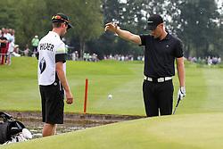 27.06.2015, Golfclub München Eichenried, Muenchen, GER, BMW International Golf Open, Tag 3, im Bild Marcel Schneider (GER) am Gruen von Loch 18 muss droppen // during day three of the BMW International Golf Open at the Golfclub München Eichenried in Muenchen, Germany on 2015/06/27. EXPA Pictures © 2015, PhotoCredit: EXPA/ Eibner-Pressefoto/ Kolbert<br /> <br /> *****ATTENTION - OUT of GER*****