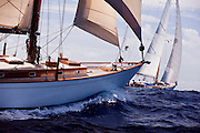 Alert sailing in the Old Road Race at the 2011 Antigua Classic Yacht Regatta.