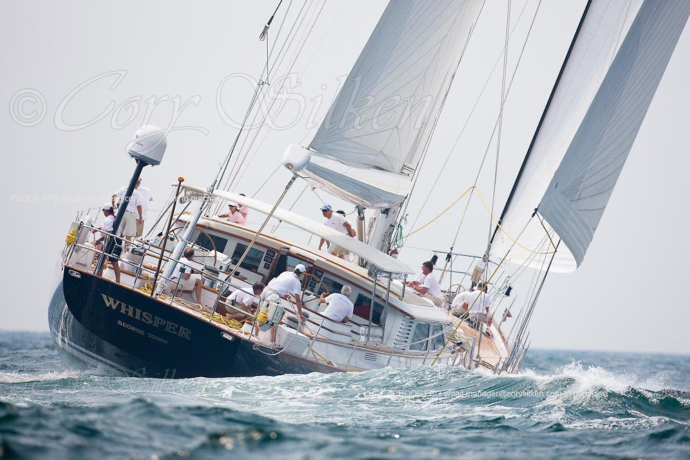Whisper racing at the Newport Bucket Regatta.