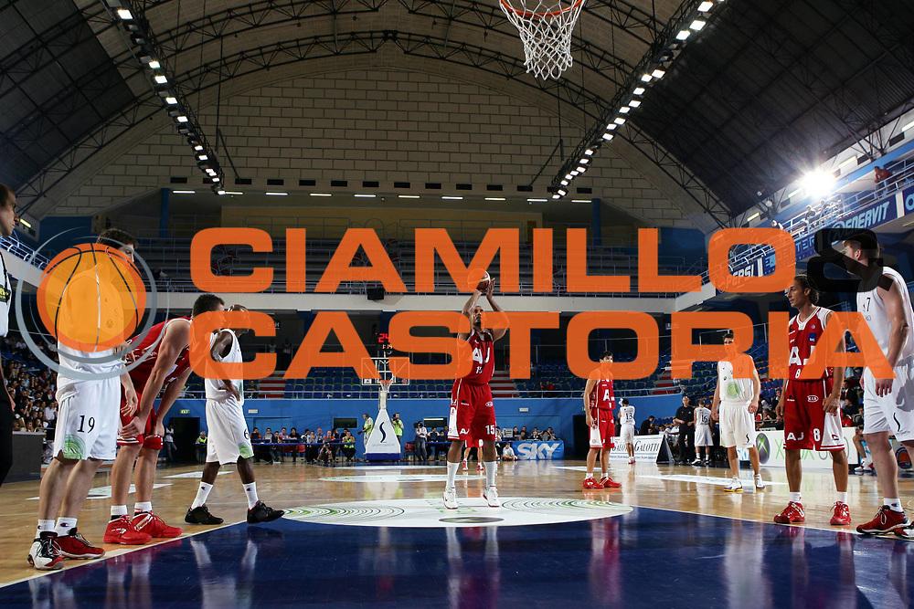 DESCRIZIONE : MILANO CAMPIONATO LEGA A1 2005-2006 PRECAMPIONATO AMICHEVOLE HISTORY CUP<br />GIOCATORE : BLAIR - PANORAMICA<br />SQUADRA : ARMANI JEANS MILANO<br />EVENTO : CAMPIONATO LEGA A1 2005-2006 HISTORY CUP<br />GARA : ARMANI JEANS MILANO-VIRTUS BOLOGNA<br />DATA : 26/09/2005 <br />CATEGORIA : Tiro<br />SPORT : Pallacanestro <br />AUTORE : Agenzia Ciamillo-Castoria/L.Lussoso