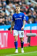 Lucas Digne (#12) of Everton during the Premier League match between Newcastle United and Everton at St. James's Park, Newcastle, England on 9 March 2019.