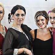 Samina Mughal showcases a set (Bling Style) at SMGlobal Catwalk - London Fashion Week F/W19 at Clayton Crown Hotel,  Cricklewood Broadway, on 1st March 2019, London, UK.