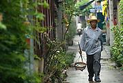 Down a narrow alley in Bangkok