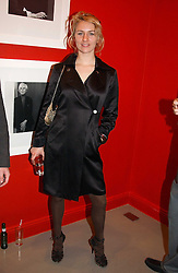 MISS MICKEY SUMNER daughter of singer Sting at a private view of an exhibition of photographs by the late Robert Mapplethorpe curated by artist David Hockney at the Alison Jacques Gallery, 4 Clifford Street, London W1 on 13th January 2005.<br />