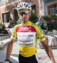 11.07.2015, Kitzbühel, AUT, Österreich Radrundfahrt, 7. Etappe, von Kitzbühel nach Innsbruck, im Bild Victor Gonzalez de la Parte (ESP, 1. Platz Gesamtwertung) // Overall Leader Victor Gonzalez de la Parte of Spain during the Tour of Austria, 7th Stage, from Kitzbühl to Innsbruck, Kitzbühel, Austria on 2015/07/11. EXPA Pictures © 2015, PhotoCredit: EXPA/ Reinhard Eisenbauer