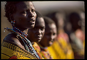 Maasai Choir, Maasai Mara, Kenya, July, 2002