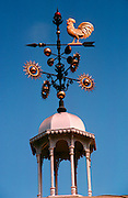 MEXICO, ARCHITECTURE Victorian style bandshell in Colima; detail of weathervane