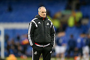 Swansea City Manager Francesco Guidolin   during the Barclays Premier League match between Everton and Swansea City at Goodison Park, Liverpool, England on 24 January 2016. Photo by Simon Davies.