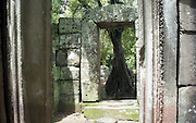 Ruins and artefacts at UNESCO World Heritage Site Angkor Wat, Cambodia.