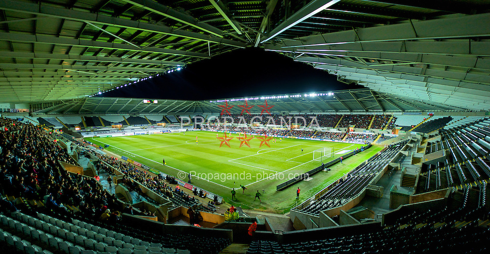 SWANSEA, WALES - Wednesday, March 3, 2010: Wales take on Sweden during the international friendly match at the Liberty Stadium. (Photo by David Rawcliffe/Propaganda)