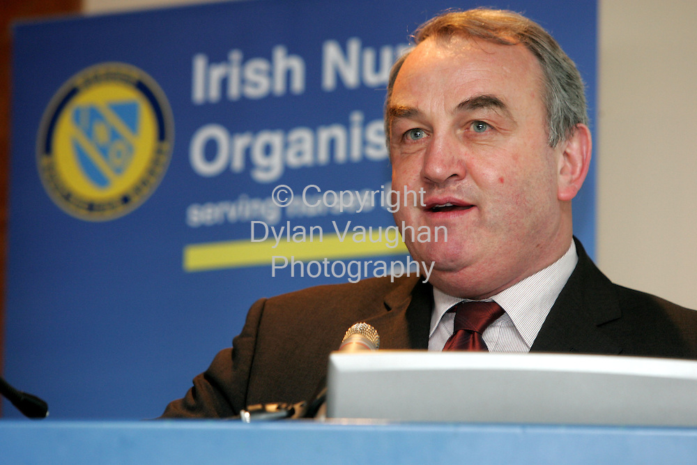 11/11/2005.Pictured at the Irish Nurses Organisation Conference at the Kilkenny Ormonde Hotel was .GAA President elect Nicky Brennan..Picture Dylan Vaughan.