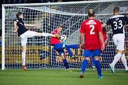Falkirk's Blair Alston misses a chance.<br /> Full time : Falkirk 0 v 0 Cowdenbeath, Falkirk win on penalties after extra time, second round League Cup tie played at The Falkirk Stadium.