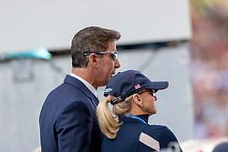 DOWER Robert (Nationaltrainer USA)<br /> Aachen - CHIO 2018<br /> Deutsche Bank Preis <br /> Grand Prix Kür CDIO<br /> 22. Juli 2018<br /> © www.sportfotos-lafrentz.de/Stefan Lafrentz