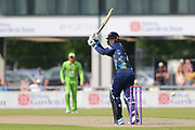 Durham's Graham Clark during the Specsavers County Champ Div 1 match between Lancashire County Cricket Club and Durham County Cricket Club at the Emirates, Old Trafford, Manchester, United Kingdom on 20 May 2018. Picture by George Franks.