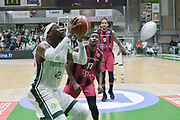 Shot of Johan Passave Ducteil of Nanterre 92 team and defense of Yorman Polas Bartolo of Telekom Baskets Bonn during the Champions League, Group D, basketball match between Nanterre 92 and Telekom Baskets Bonn on January 24, 2018 at Palais des Sports Maurice Thorez in Nanterre, France - Photo I-HARIS / ProSportsImages / DPPI