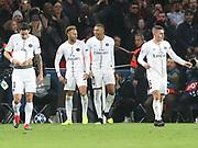 Kylian Mbappe  and Neymar of Paris Saint-Germain during the Champions League group stage match between Paris Saint-Germain and Liverpool at Parc des Princes, Paris, France on 28 November 2018.